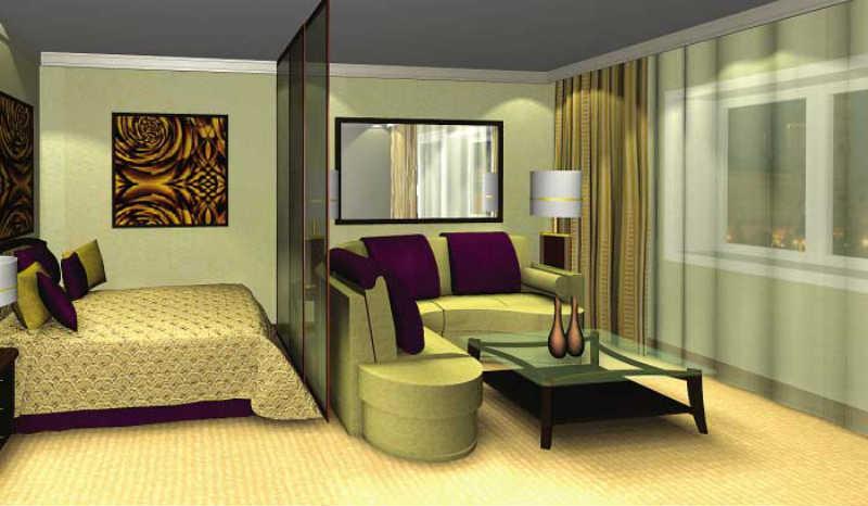 Дизайн комнаты 18 кв м в однокомнатной 5