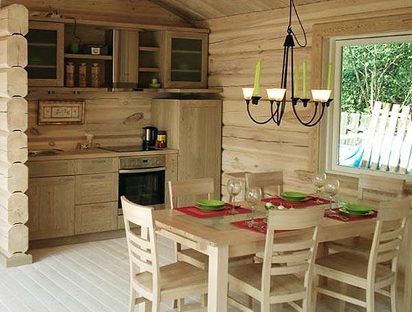 Интерьер деревянного дома деревянный