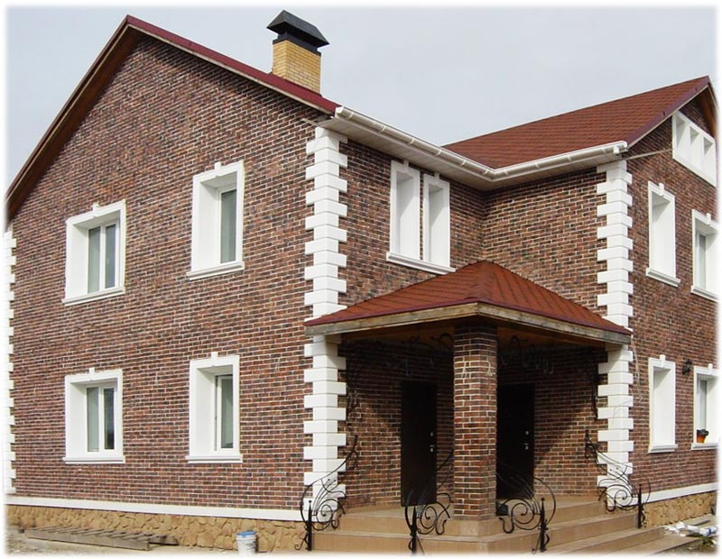 Кирпичные узоры на домах фото