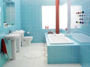 Ванная сливочного цвета