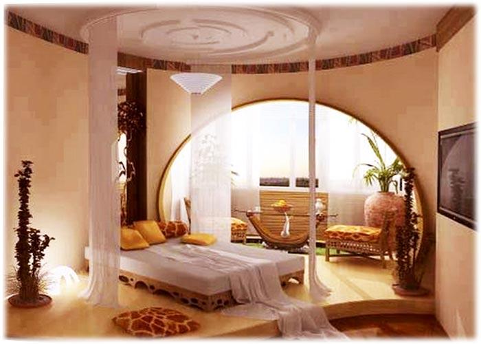 Дизайн два в одном спальня и гостиная